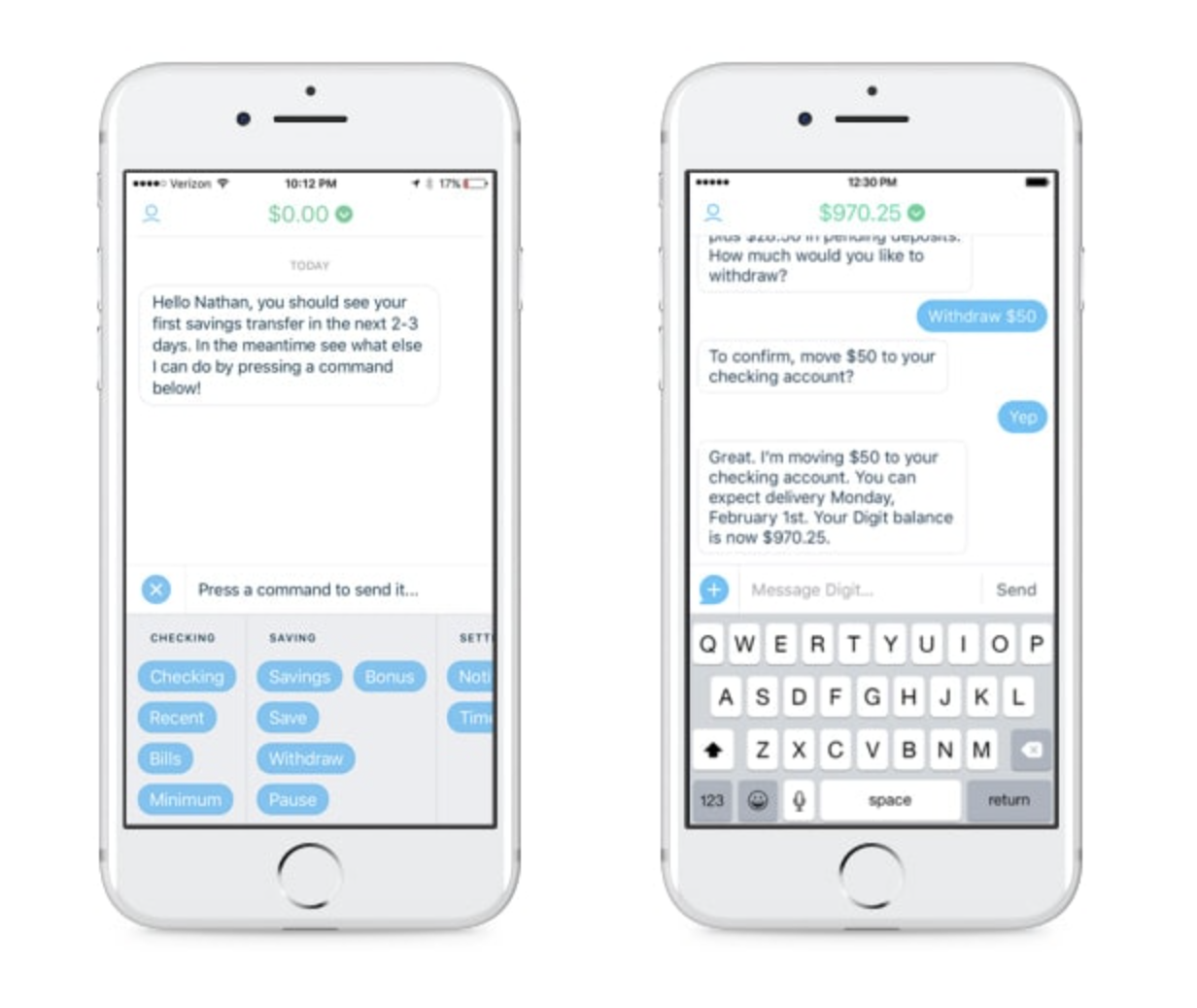 advantages of chatbots in customer service for banking app