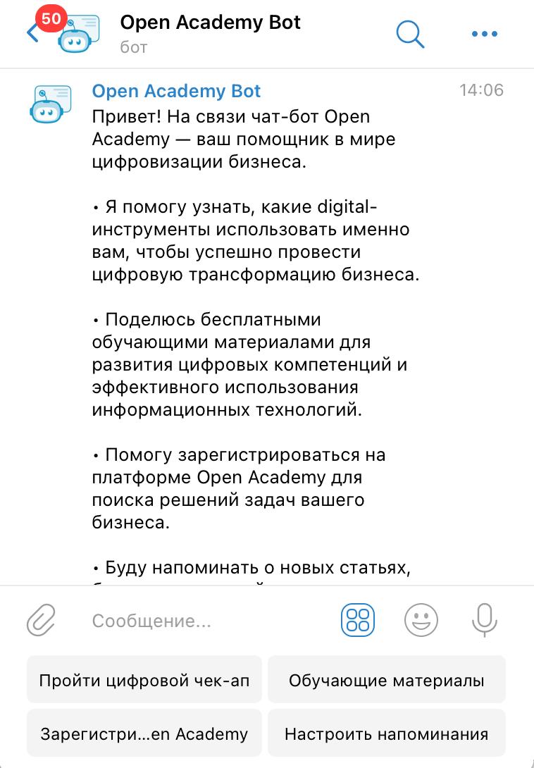 Chatbot for app