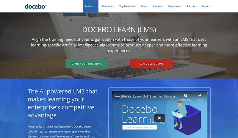 Docebo e-learning platform
