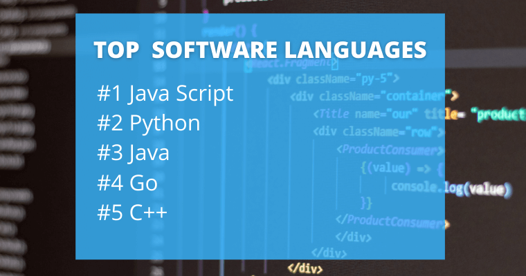Top software languages